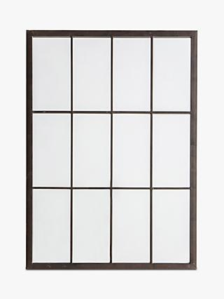 Luar Outdoor Garden Wall Window Style Mirror, 70 x 50cm