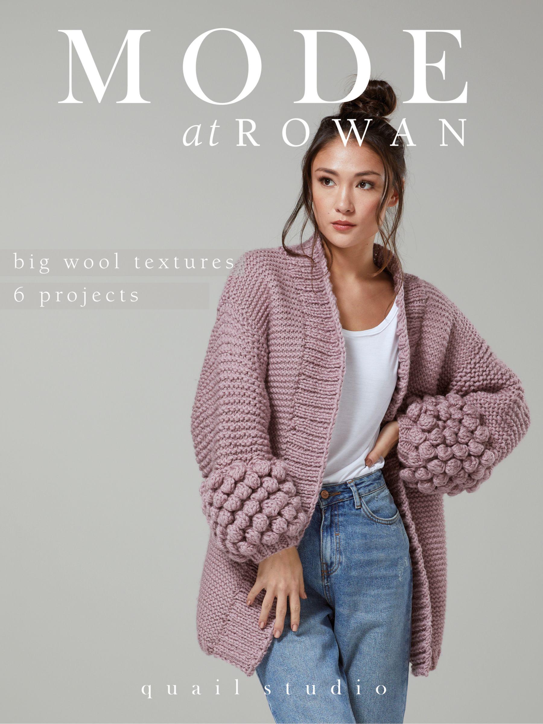 Rowan Rowan Big Wool Textures Knitting Projects Magazine