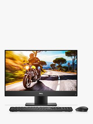 "Dell Inspiron 5477 All-in-One Desktop PC, Intel Core i3, 8GB RAM, 1TB HDD, 23.8"" Full HD, Silver"