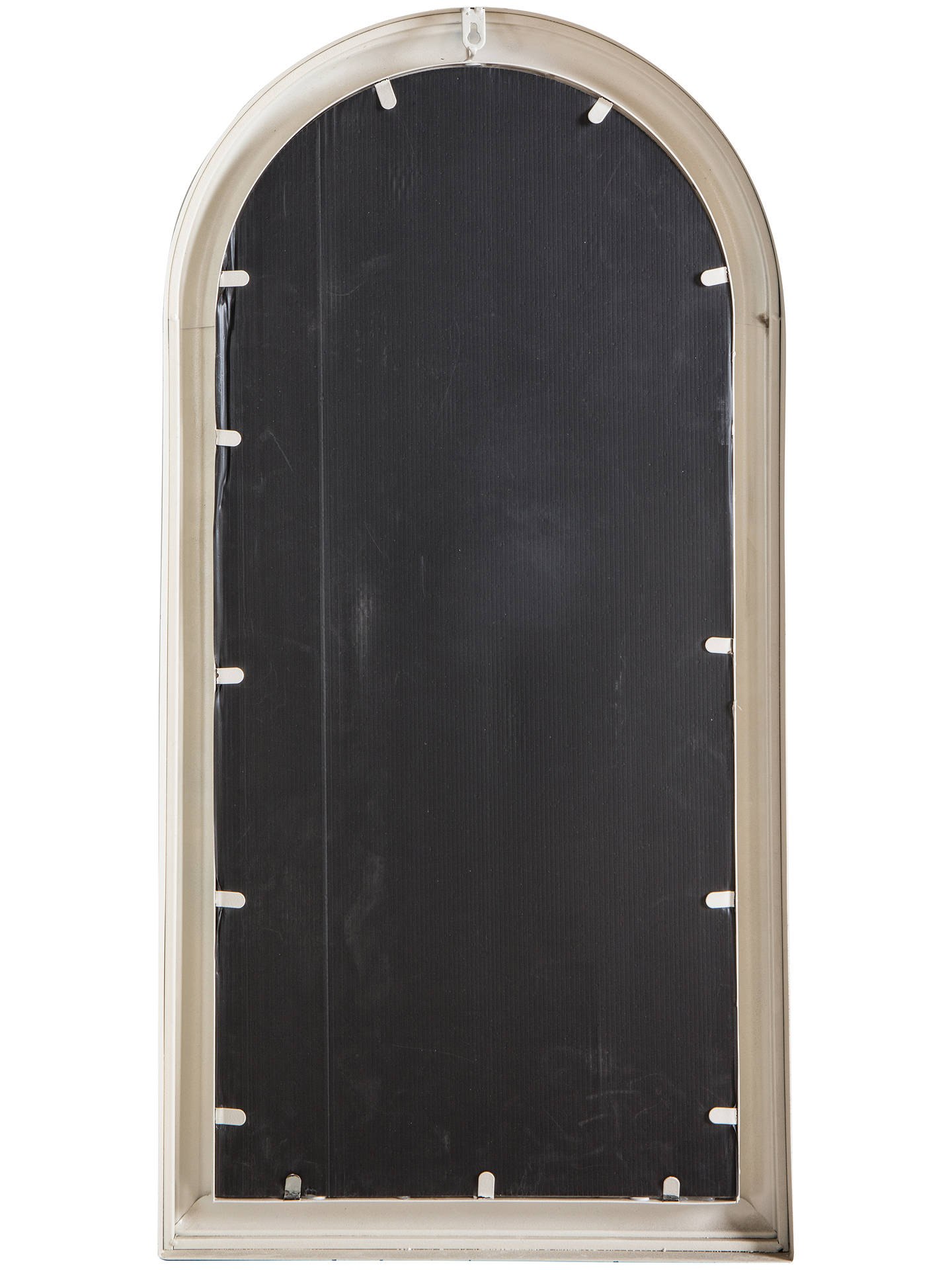 Buy Fleura Outdoor Garden Wall Ornate Arched Mirror, 96.5 x 49cm, Antique Ivory Online at johnlewis.com