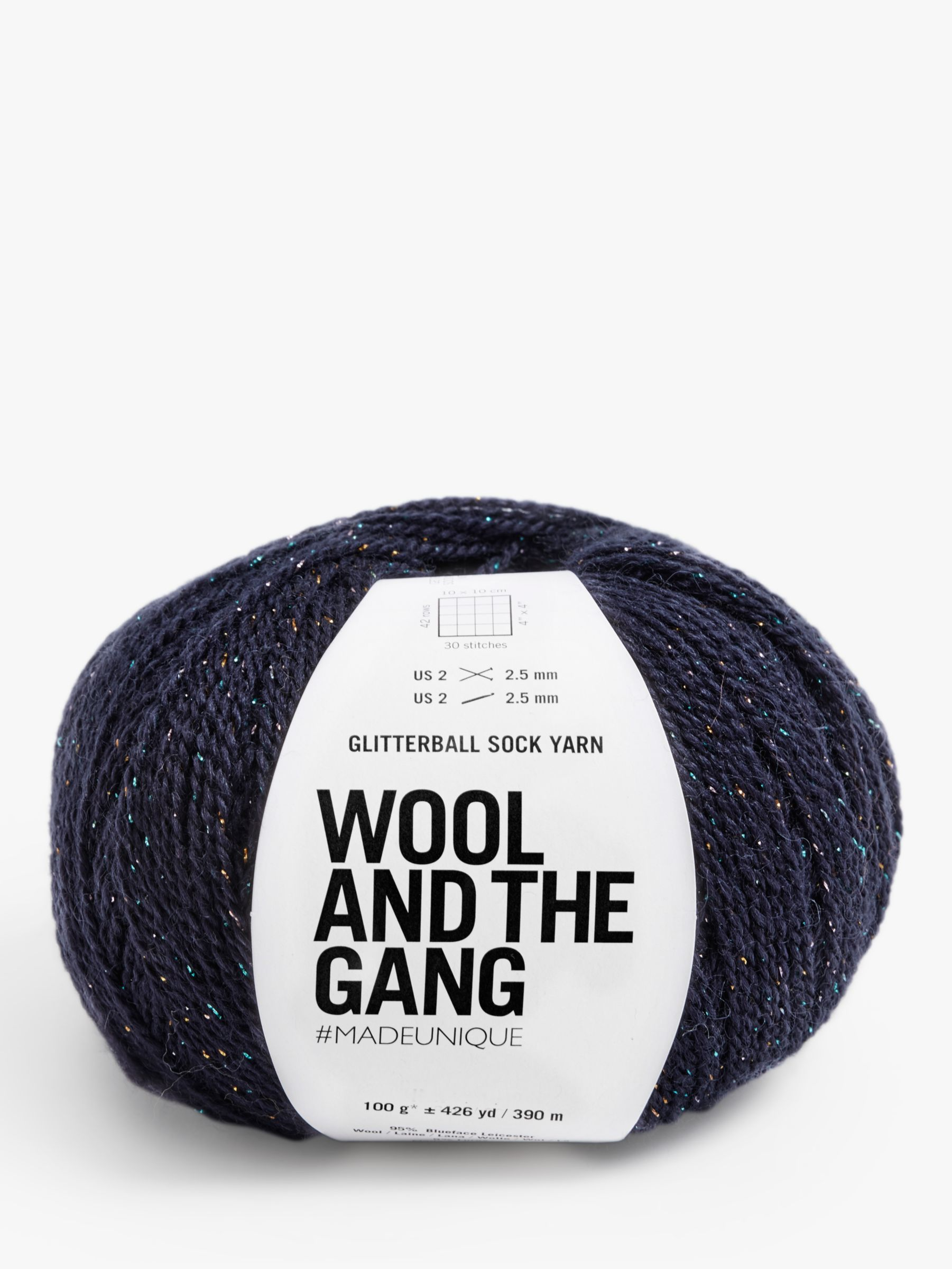 Wool and the Gang Wool And The Gang Glitterball Sock Yarn, 100g