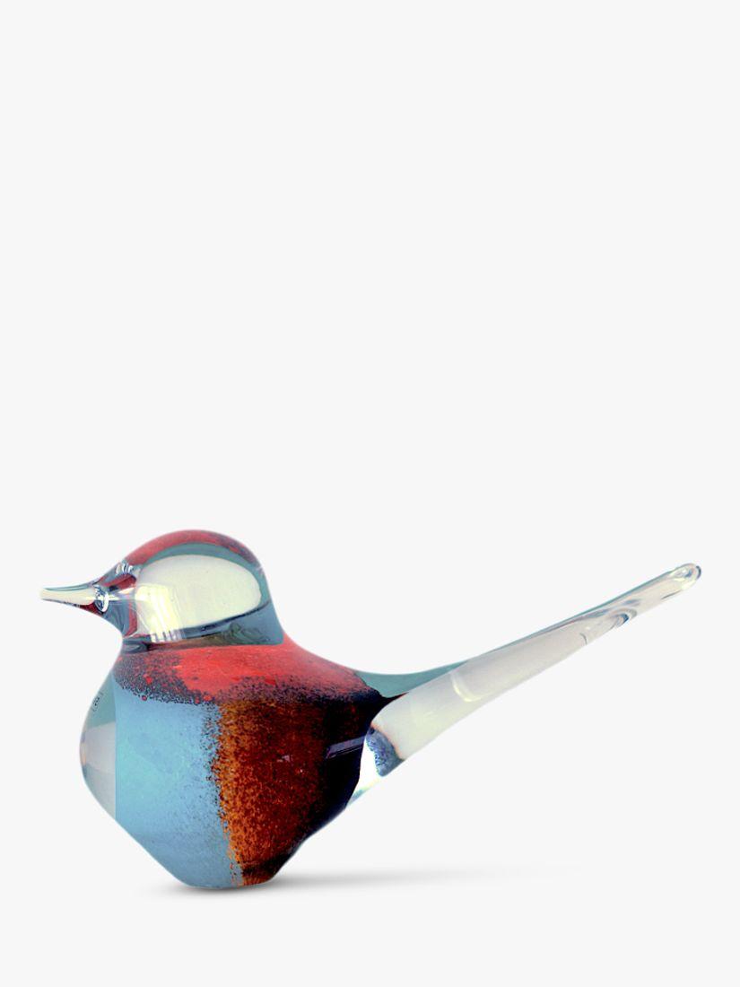 Svaja Svaja Big Basil Bird Ornament, Brown/Teal