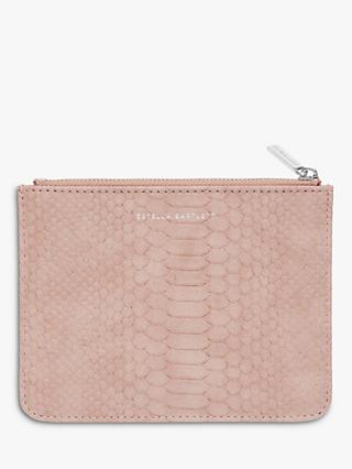 Estella Bartlett Small Snake Effect Pouch Purse, Pink