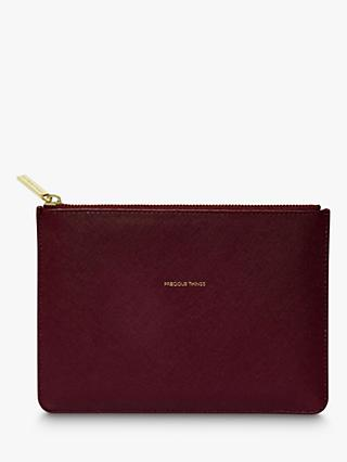 Estella Bartlett Medium Pouch Purse, Burgundy