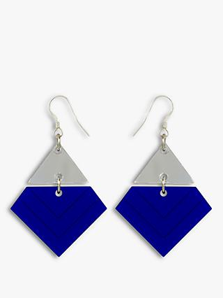 Toolally Chevron Pattern Drop Earrings