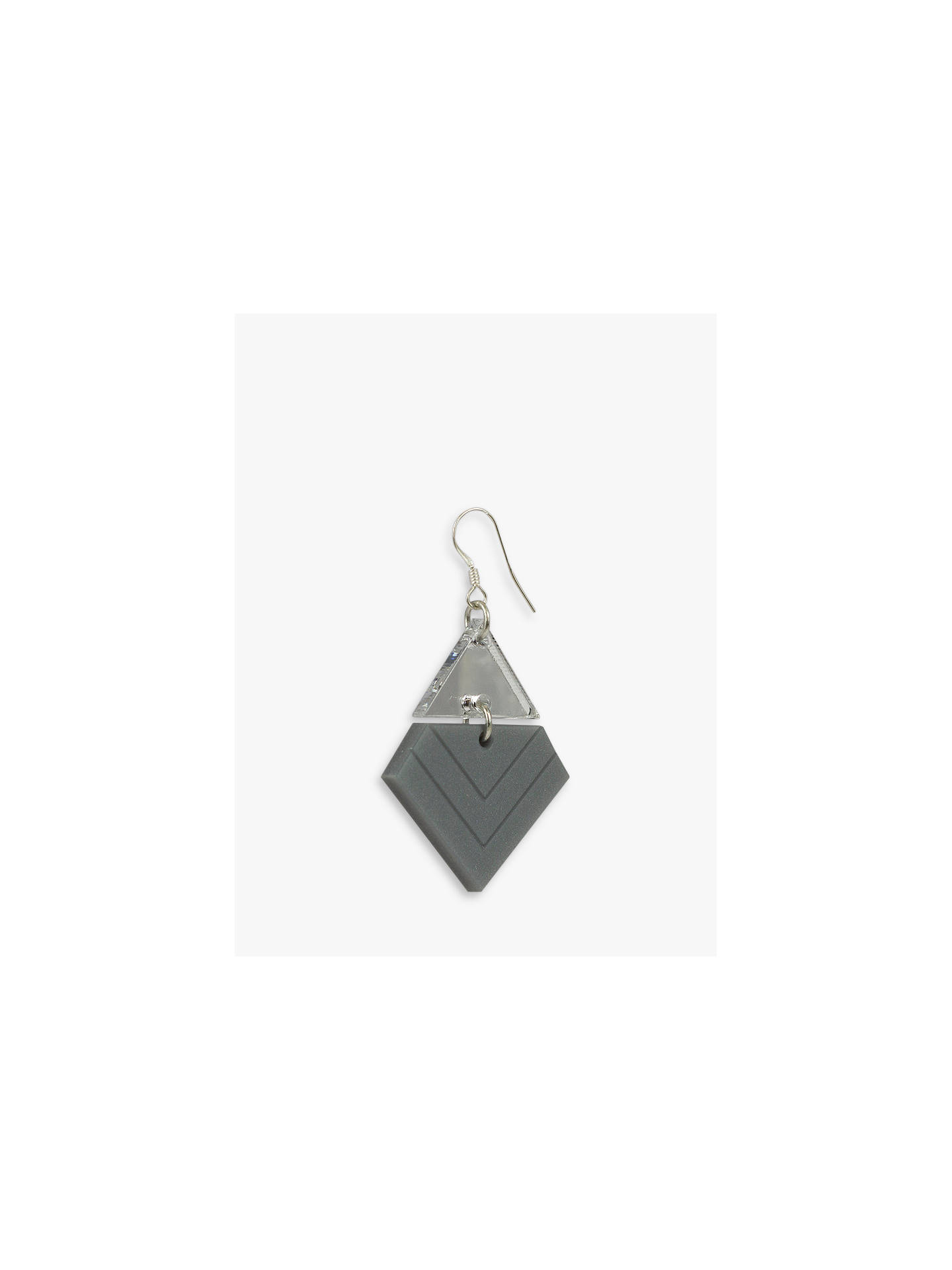 Buy Toolally Chevron Pattern Drop Earrings, Royal Silver/Silver Mirror Online at johnlewis.com