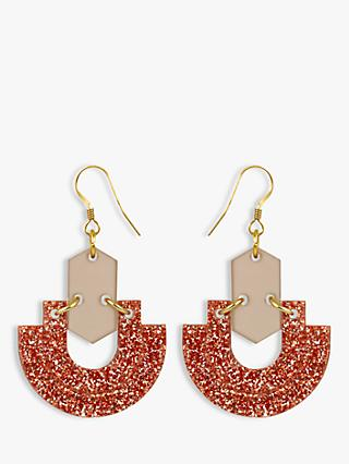 Toolally Half Hoops Drop Earrings