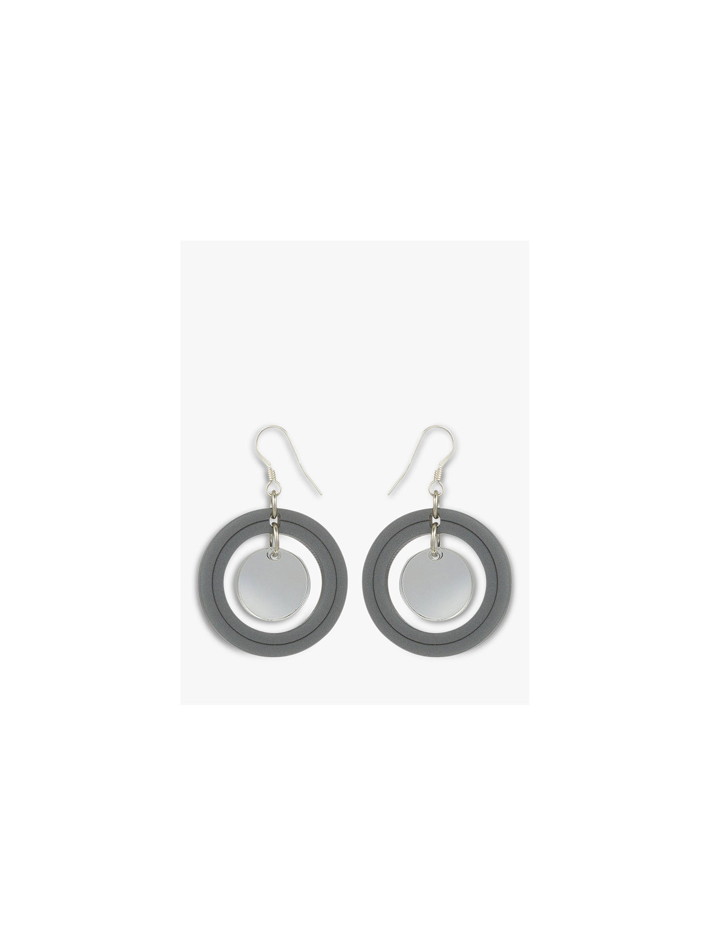 Buy Toolally Dots Drop Earrings, Royal Silver/Silver Mirror Online at johnlewis.com