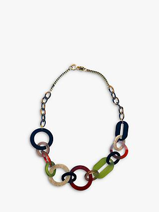Toolally Circle Link Short Necklace, Multi