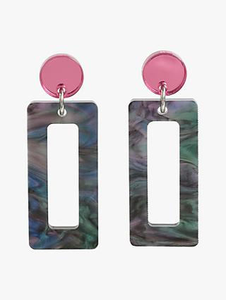 Toolally Petite Hemingways Drop Earrings, Abalone