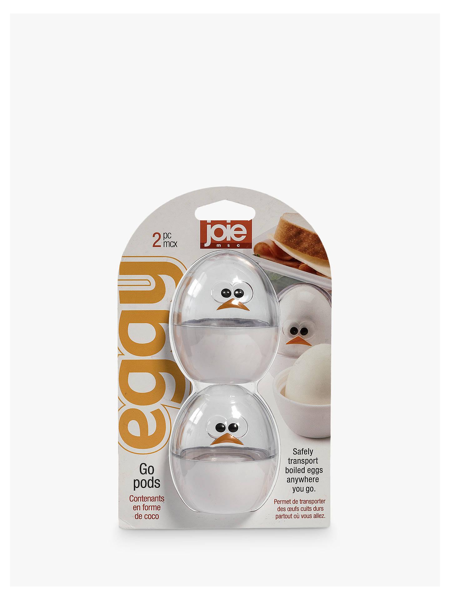 Joie Boiled Egg Go-Pod Food Storage, Set of 2, Clear