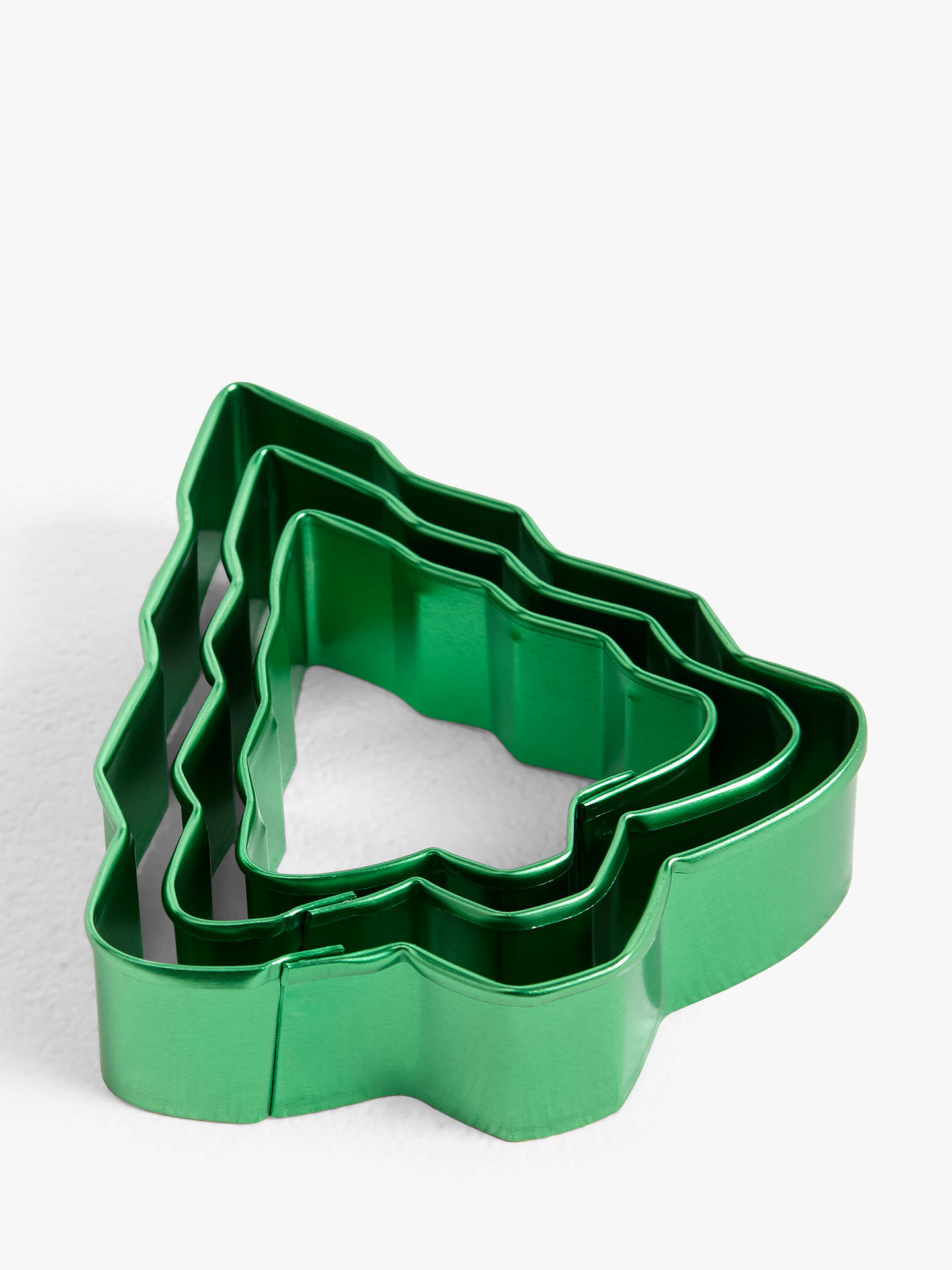 Buy John Lewis & Partners Christmas Tree Nesting Cookie Cutters, Set of 3, Green Online at johnlewis.com