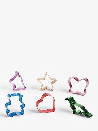 John Lewis & Partners Cookie Cutters, Set of 12, Assorted
