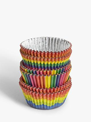 John Lewis & Partners Rainbow Cupcake Cases, Pack of 50, Assorted