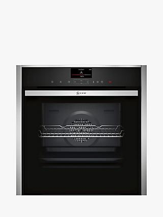 Neff B57VS24H0B Slide and Hide Integrated Single Electric Steam Oven, 60cm Wide, Black