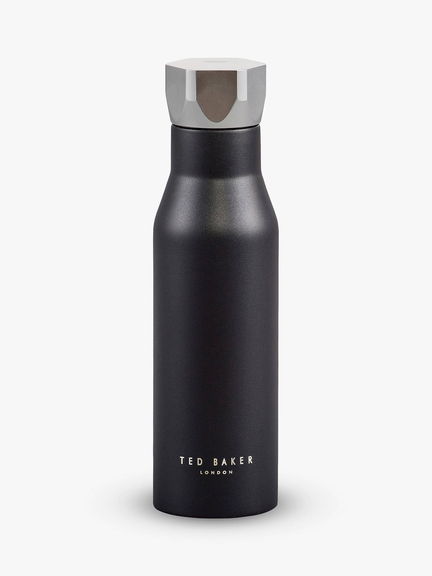 Buy Ted Baker Hexagonal Lid Water Bottle, 425ml, Black Online at johnlewis.com