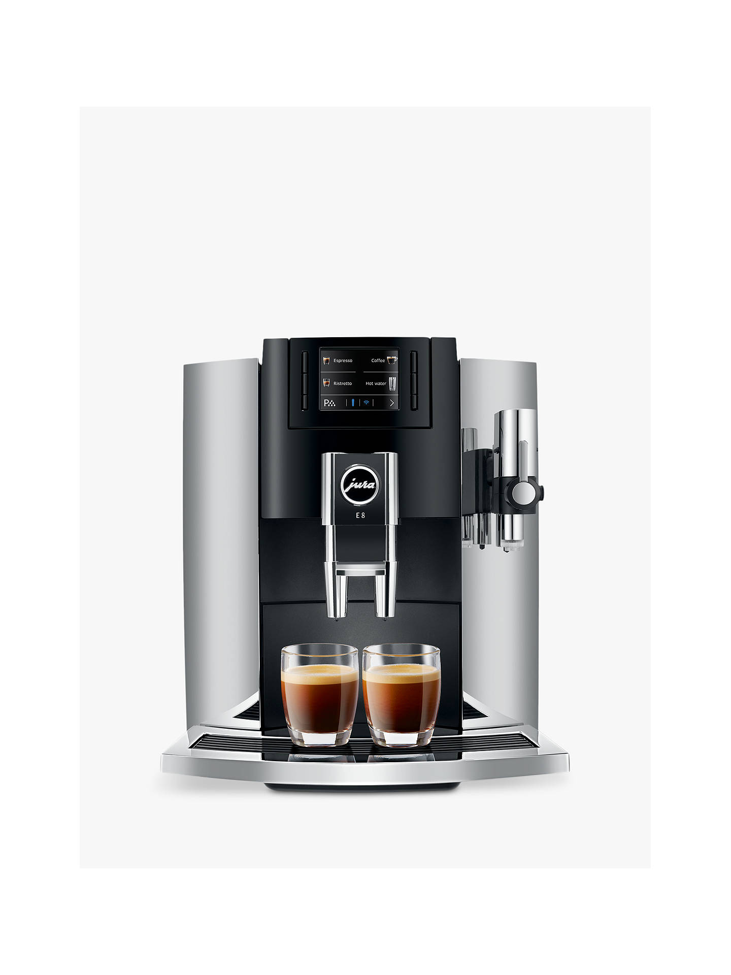 Jura E8 Bean To Cup Automatic Coffee Machine Chrome