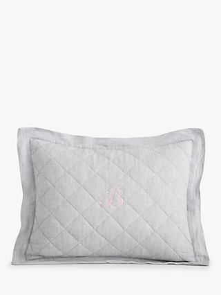 Pottery Barn Kids Linen Cushion Cover, Grey