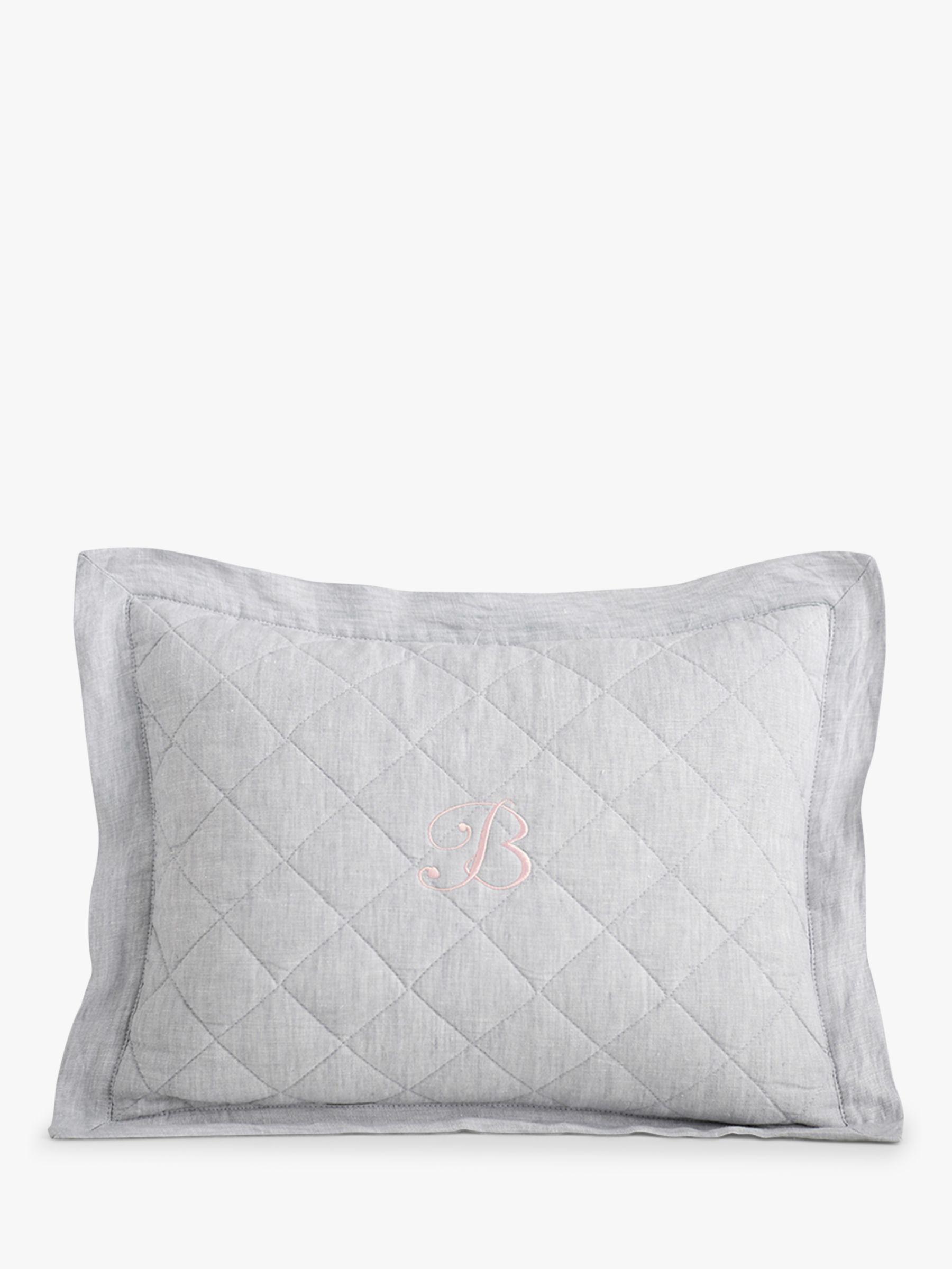 Pottery Barn Kids Linen Cushion Cover, Grey