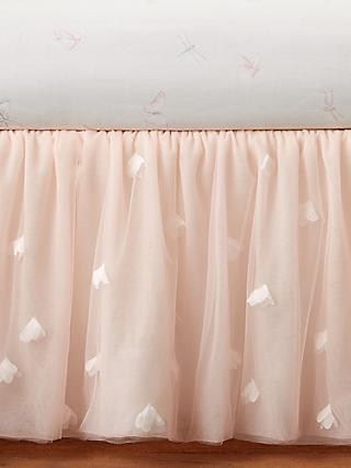 Pottery Barn Kids Tulle Cot Skirt, Blush