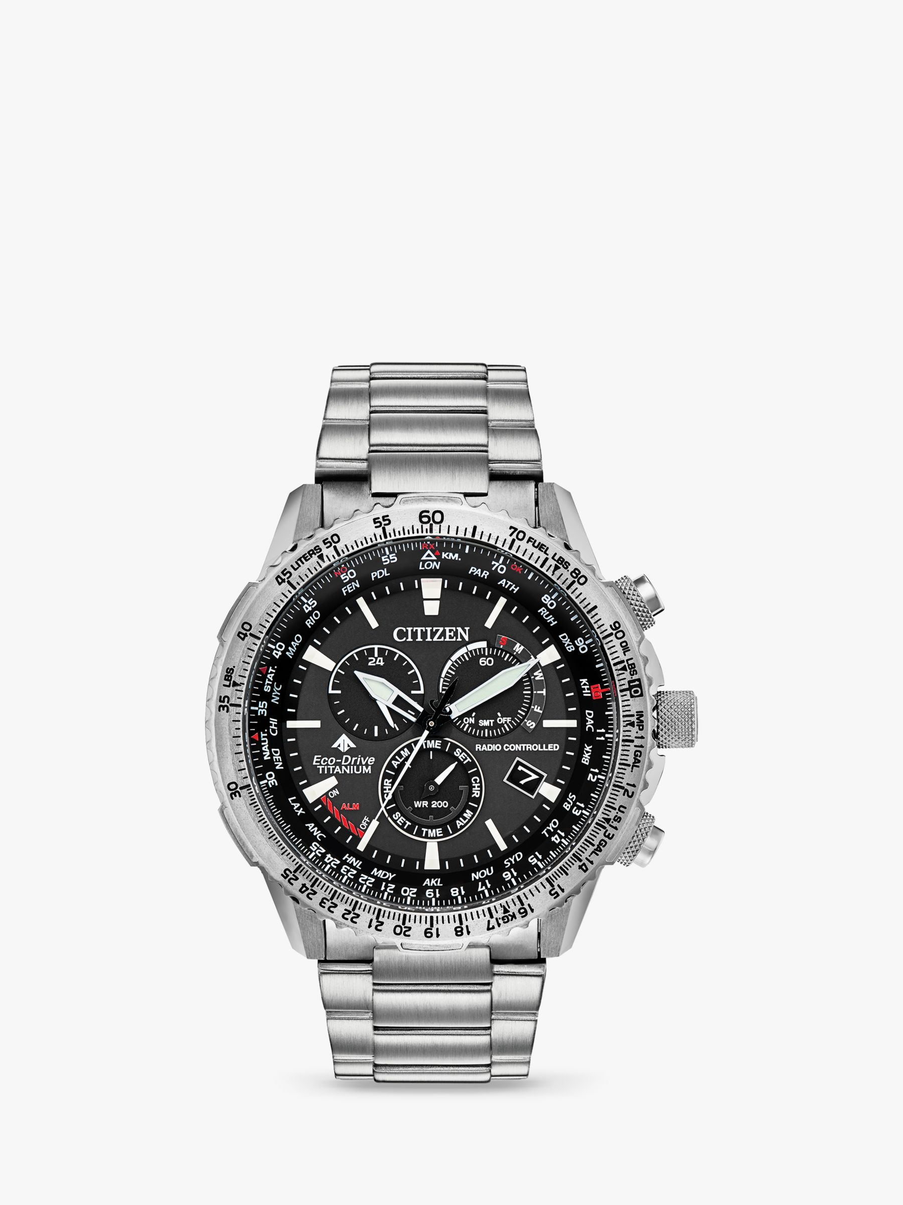 Citizen Citizen CB5010-81E Men's Promaster Chronograph Date Bracelet Strap Watch, Silver/Black