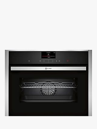 Neff C27CS22H0B Compact CircoTherm® Integrated Single Electric Oven, Stainless Steel