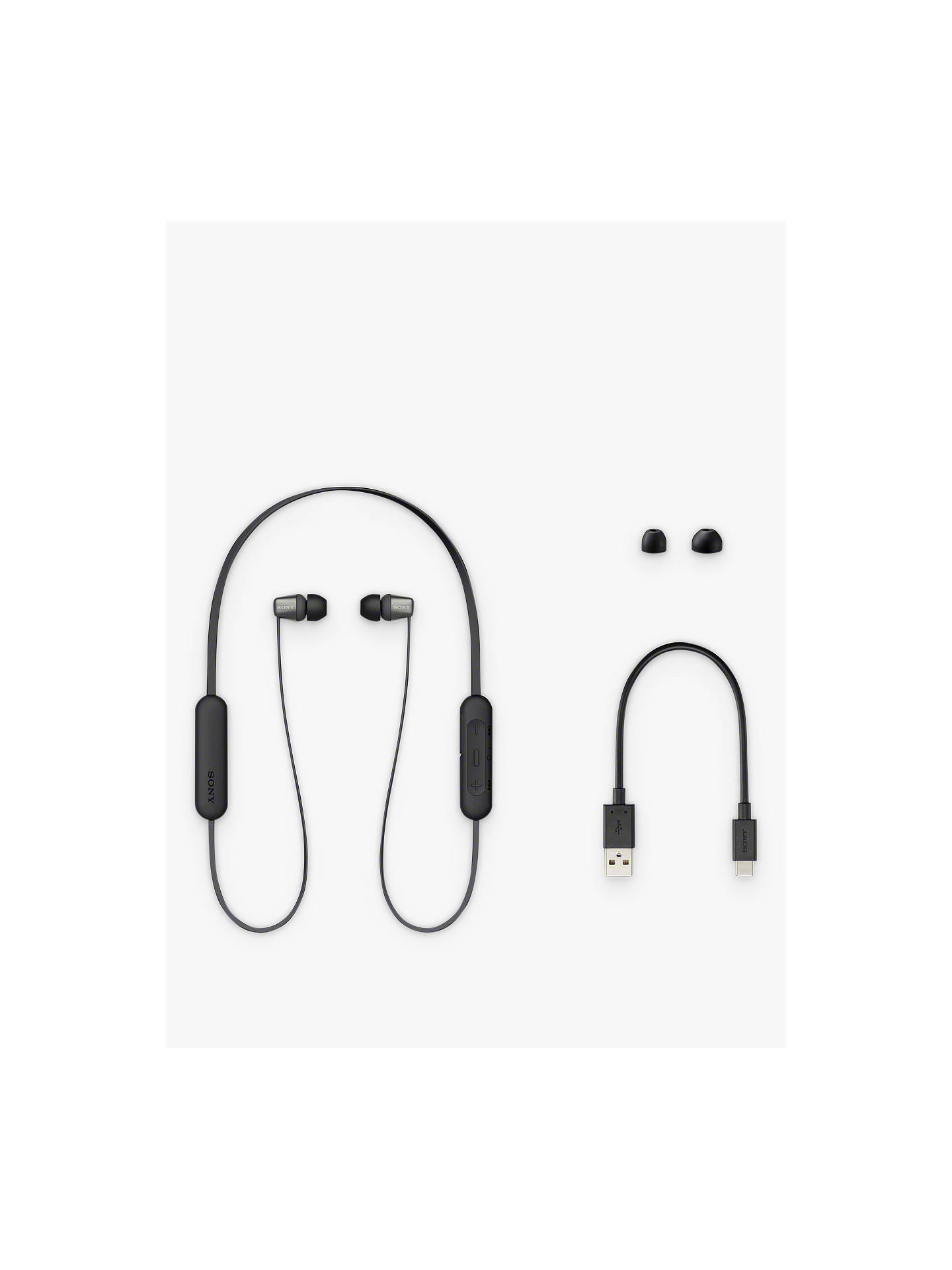 Buy Sony WI-C310 Bluetooth Wireless In-Ear Headphones with Mic/Remote, Black Online at johnlewis.com