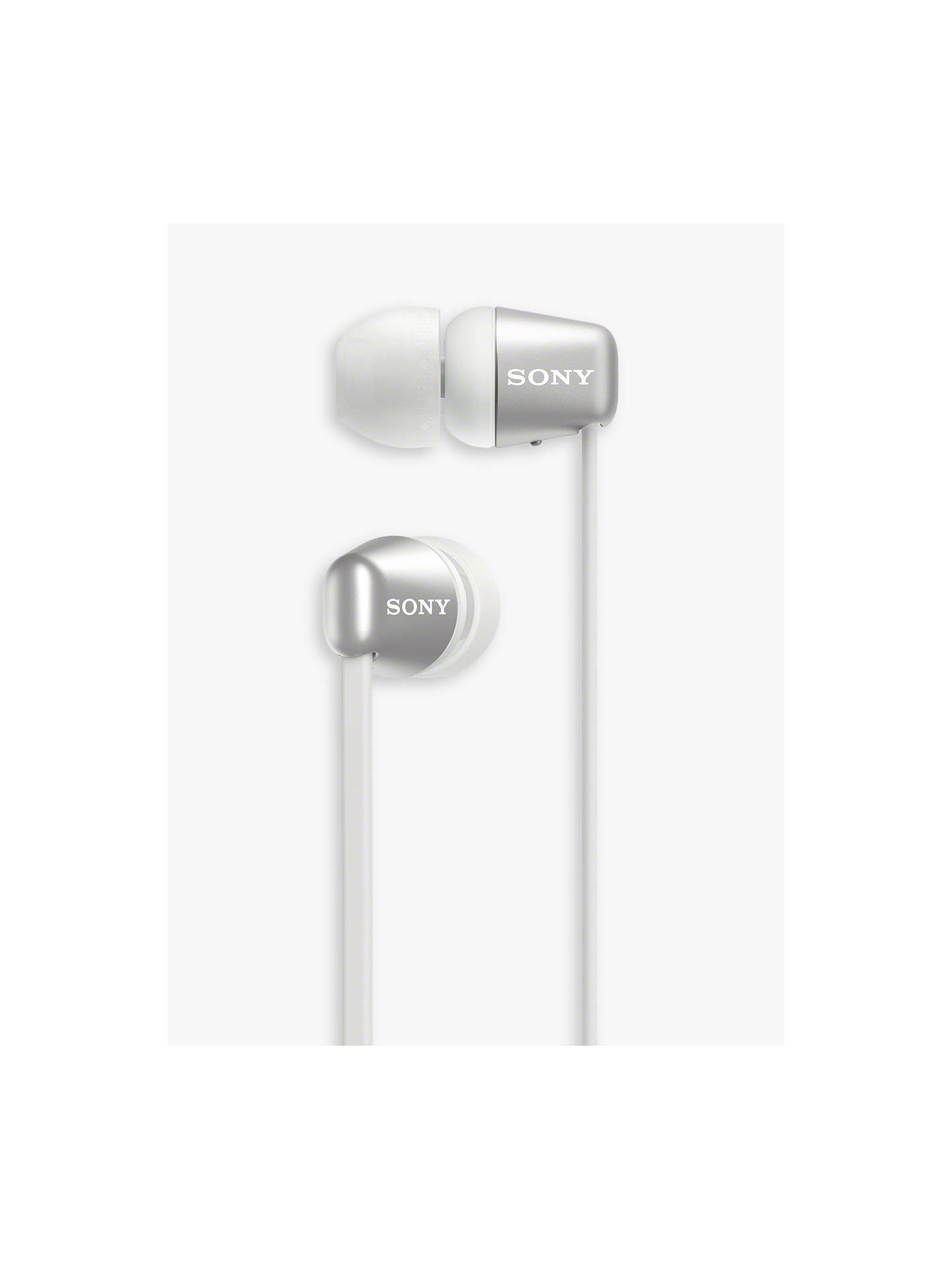 Buy Sony WI-C310 Bluetooth Wireless In-Ear Headphones with Mic/Remote, White Online at johnlewis.com