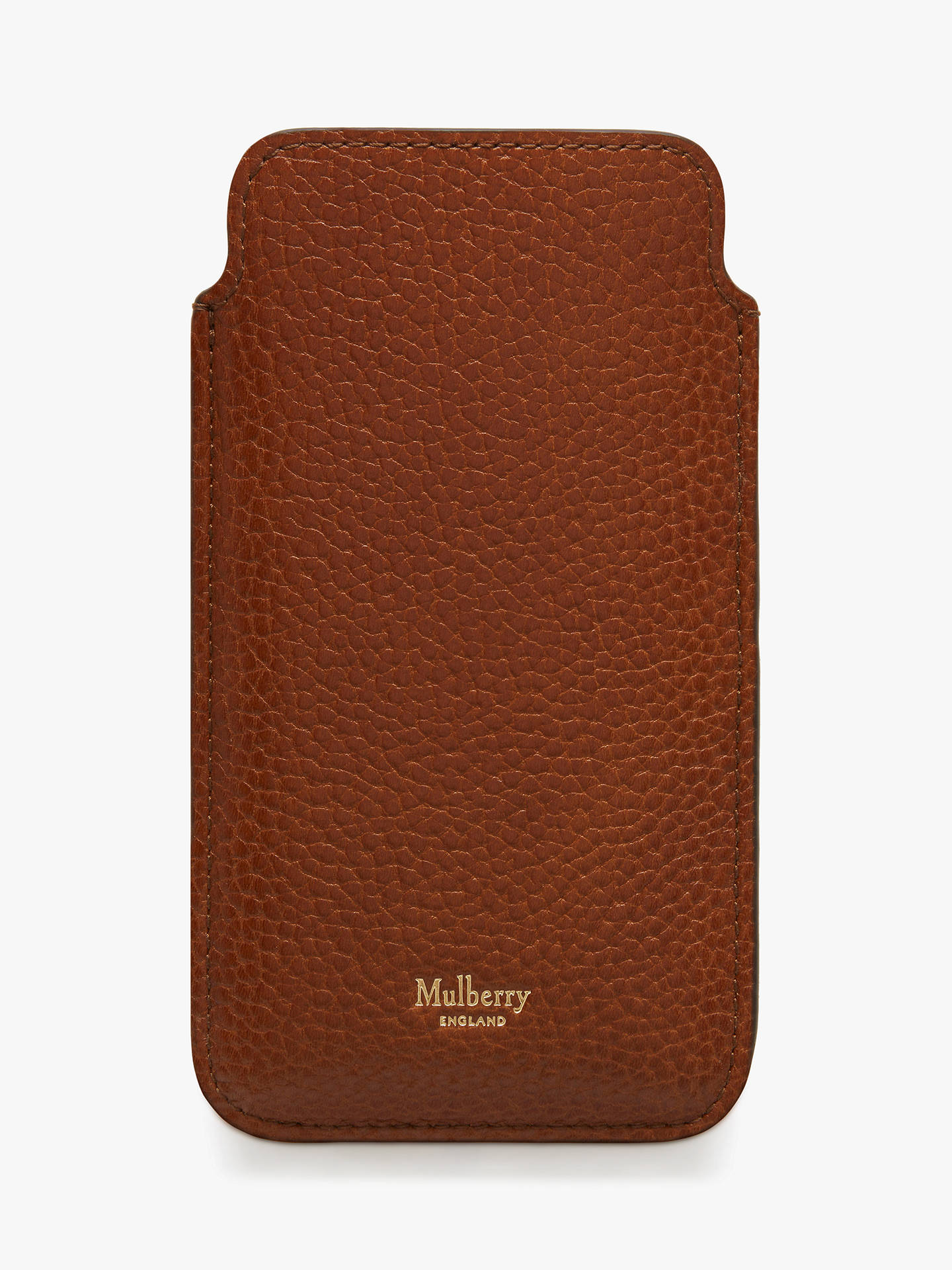 official photos d1ae0 3727c Mulberry Grain Veg Tanned Leather iPhone 6/7 Cover, Oak