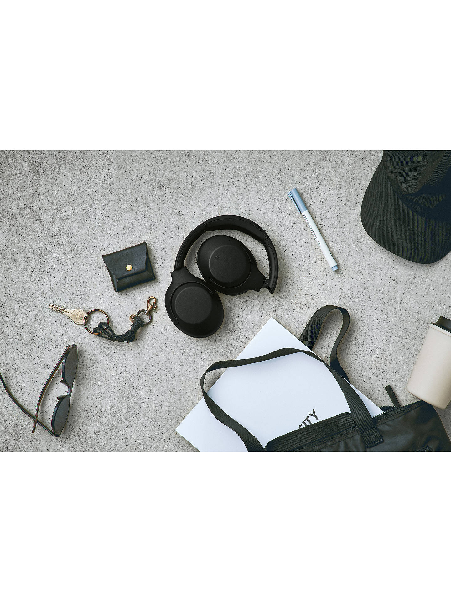 Buy Sony WH-XB900N Noise Cancelling Extra Bass Bluetooth NFC Wireless Over-Ear Headphones with Mic/Remote, Black Online at johnlewis.com