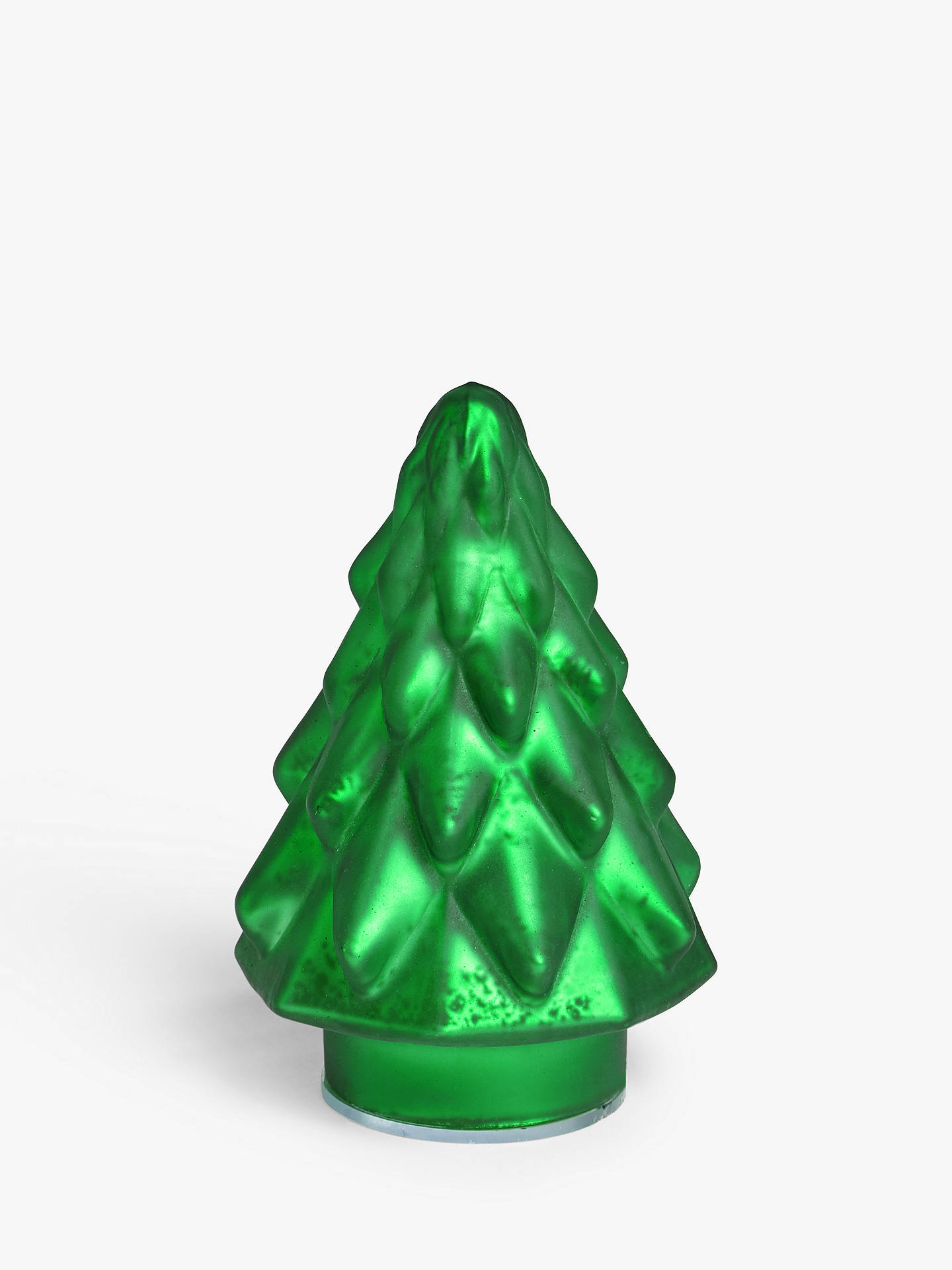 John Lewis Christmas Tree Decorations.John Lewis Partners Garden Retreat Glass Tree Decoration Green