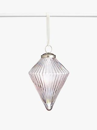 John Lewis & Partners Sanctuary Iridescent Diamond Bauble, Pink