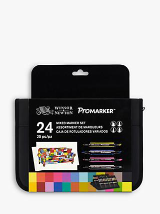 Winsor & Newton Mixed Markers, Set of 24