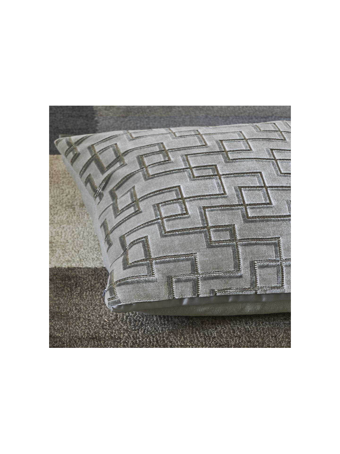 Buy Designers Guild Jeanneret Cushion, Platinum Online at johnlewis.com