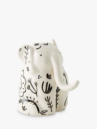 Anthropologie Stoneware Elephant Ornament