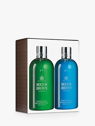 Molton Brown Bracing Silver Birch And Blissful Templetree Bath & Shower Gel Duo
