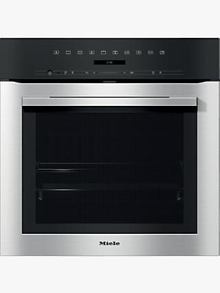 Miele H7164BP Built-In Single Oven, Clean Steel