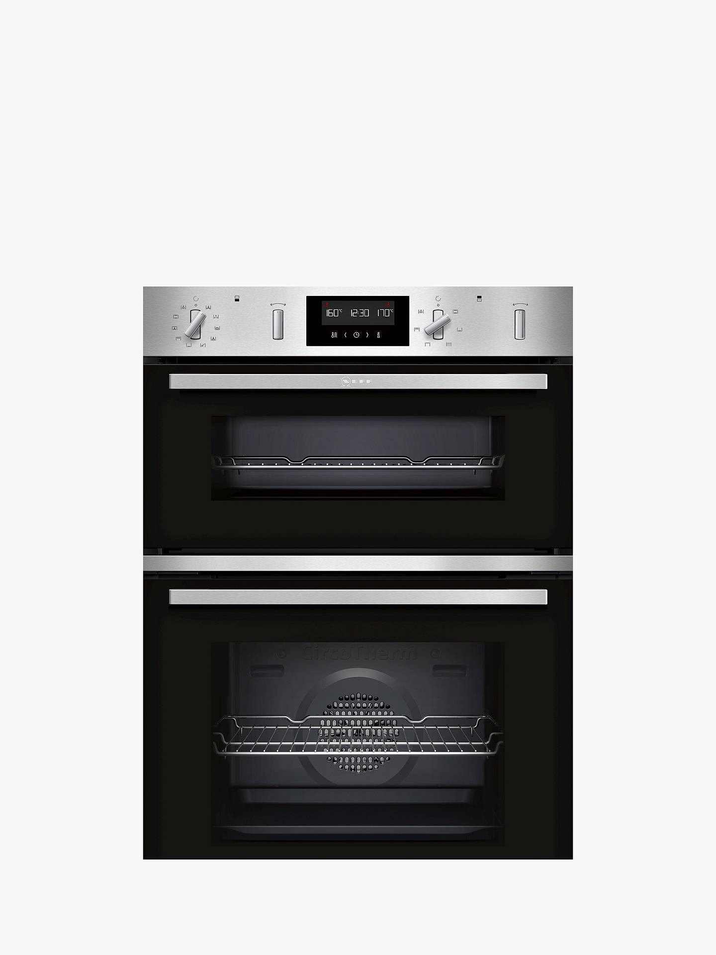 Neff U2gch7an0b Built In Self Cleaning Double Electric Oven Ab Energy Rating Stainless Steel