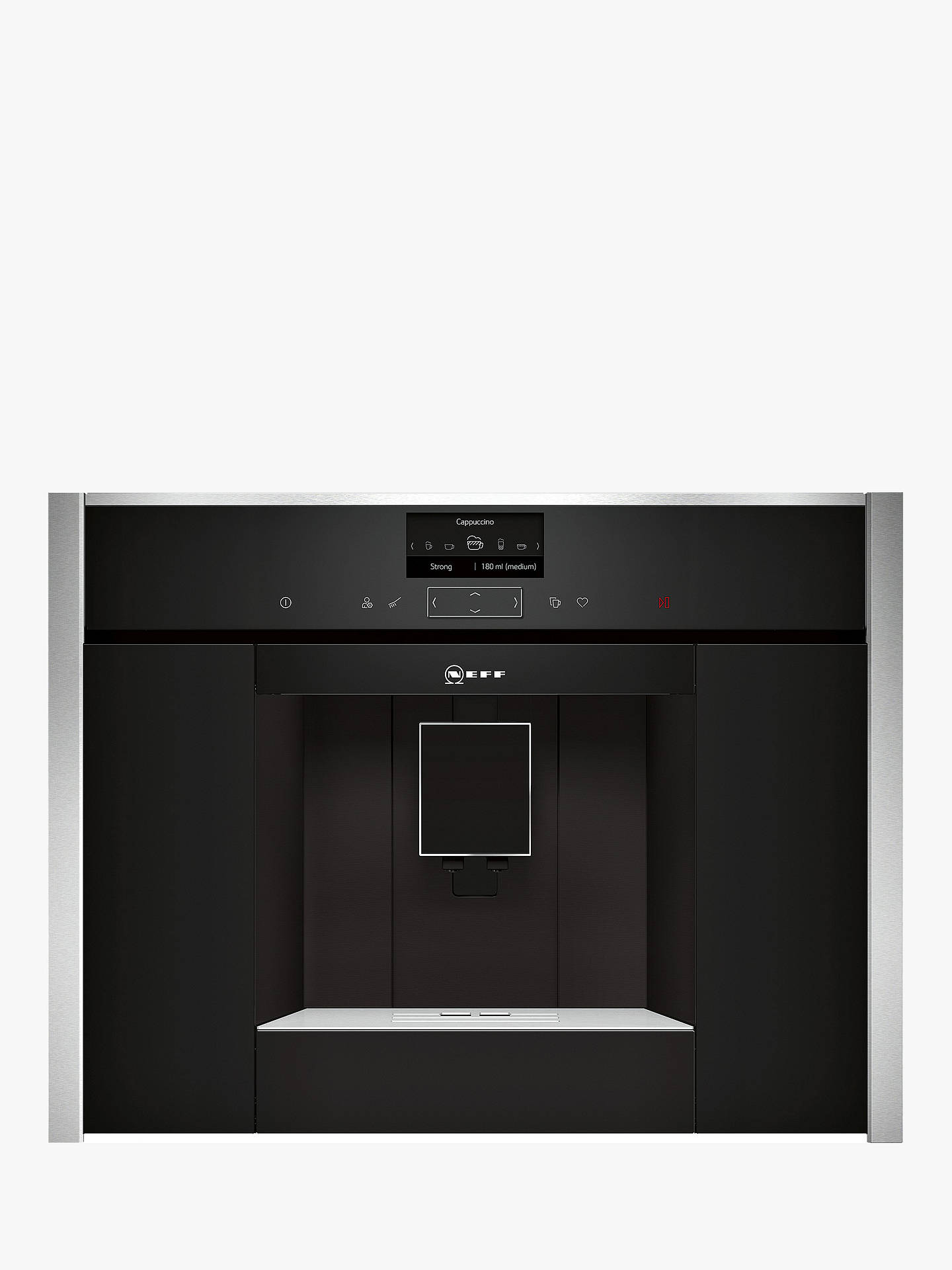 Neff C17ks61h0 Built In Bean To Cup Home Connect Coffee Machine Black