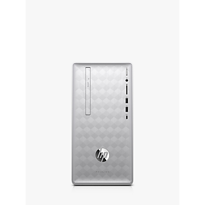 Image of HP Pavilion 590-p0070na Desktop PC, AMD Ryzen 7 Processor, 8GB RAM, 2TB HDD, Silver