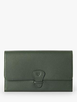 Aspinal of London Classic Leather Travel Wallet, Evergreen