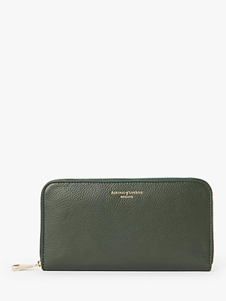 Aspinal of London Leather Continental Clutch Purse, Evergreen