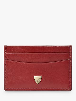 Aspinal of London Shield Leather Slim Credit Card Case