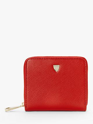 Aspinal of London Shield Leather Continental Mini Purse