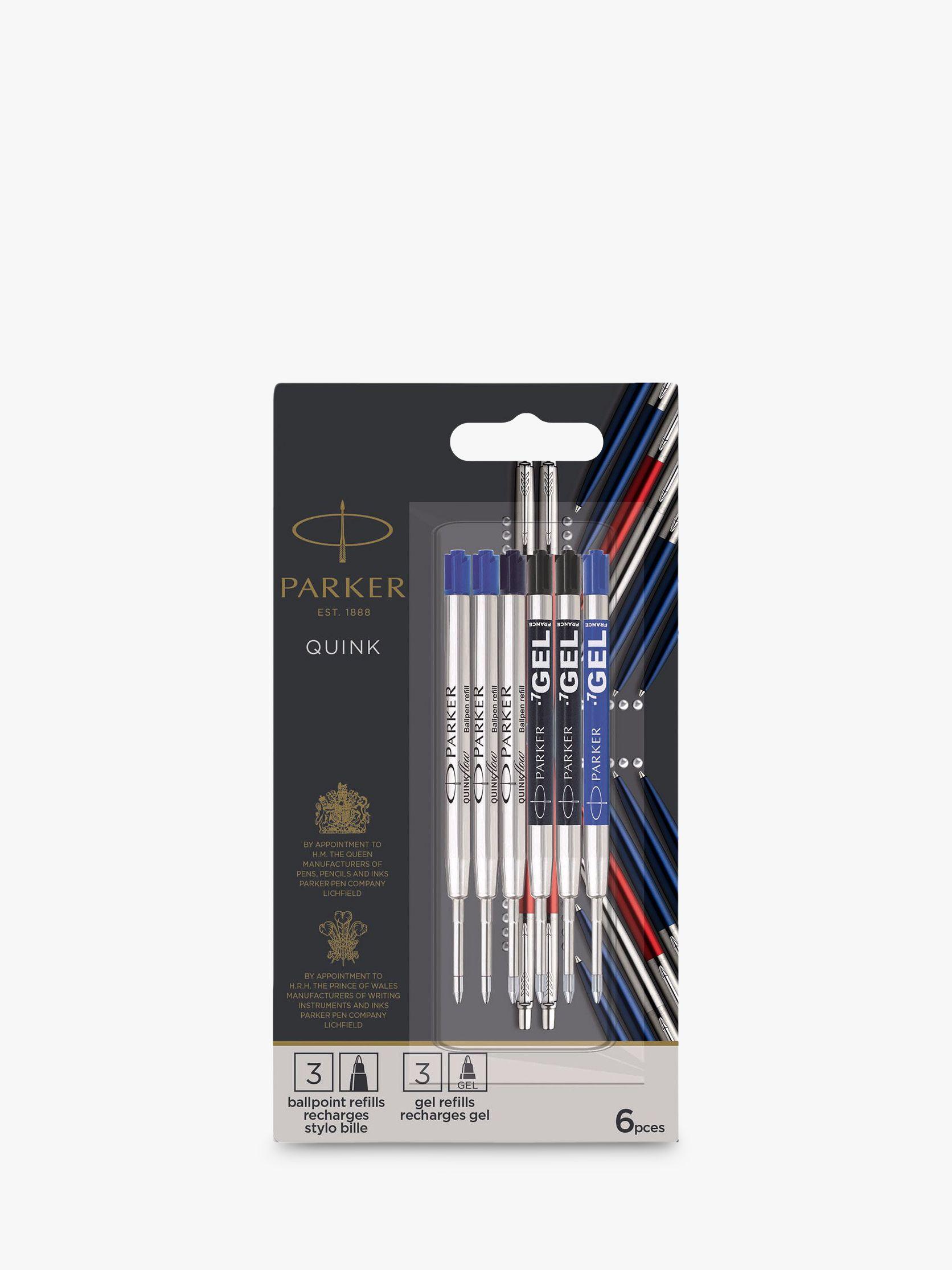 Parker PARKER Ballpoint Pen & Gel Pen Refills, Pack of 6