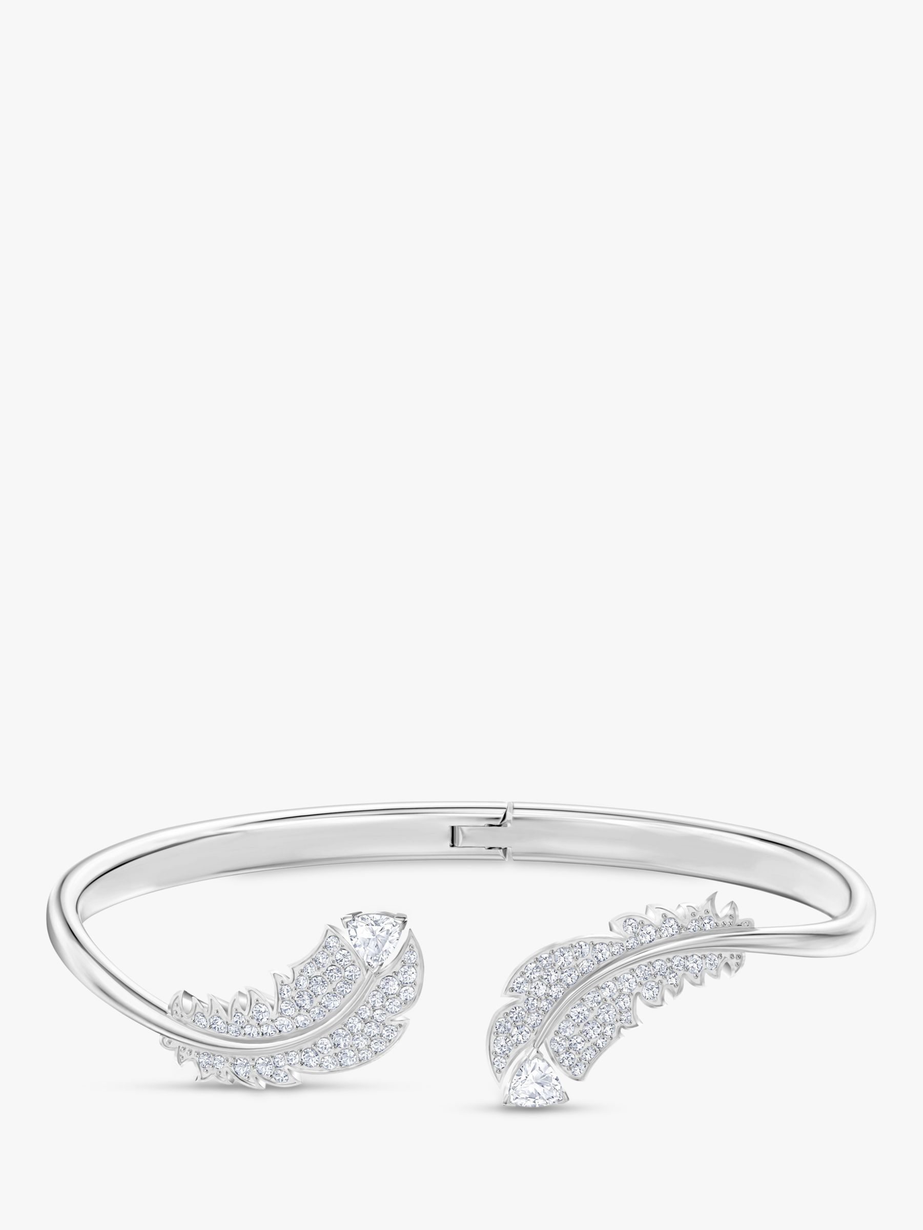 Swarovski Swarovski Crystal Feather Bangle, Silver
