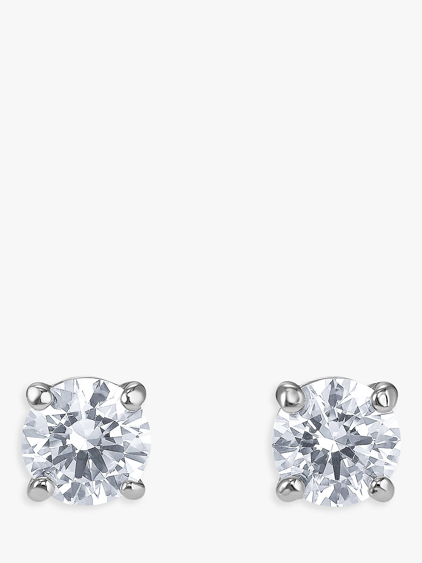 16f3e6d93 Buy Swarovski Crystal Round Stud Earrings, Silver Online at johnlewis.com