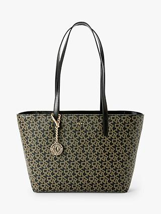 DKNY Bryant Medium Leather Logo Tote Bag