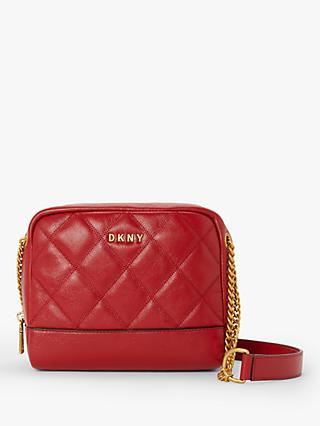 DKNY Sofia Leather Double Chain Cross Body Bag