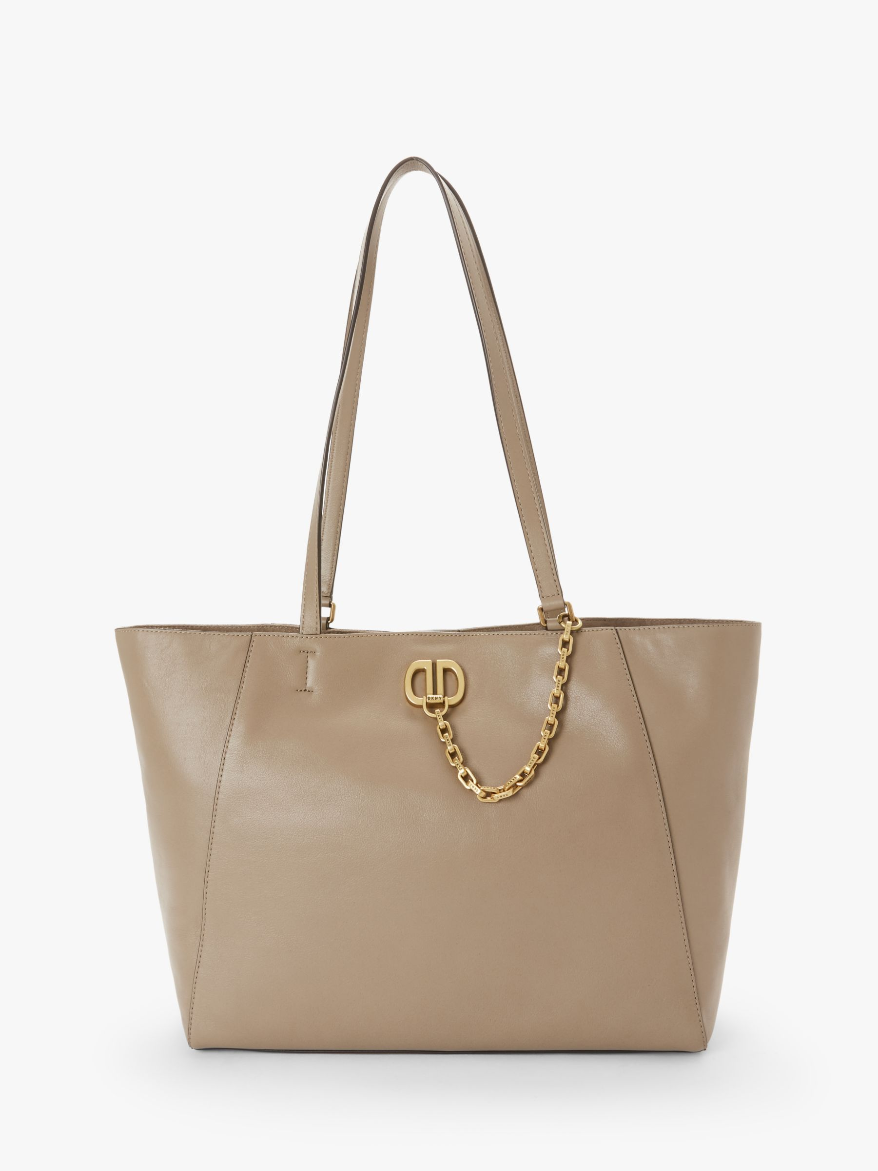 DKNY DKNY Linton Large Leather Tote Bag, Dune
